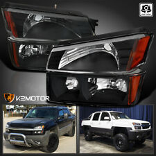 For Black 2002 2006 Chevy Avalanche 1522 2500 Headlightssignal Bumper Lamps Fits More Than One Vehicle