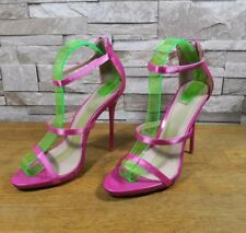 LITTLE MISTRESS LADIES HIGH HEEL SUEDE SANDAL CORAL NEW IN BOX ref 122