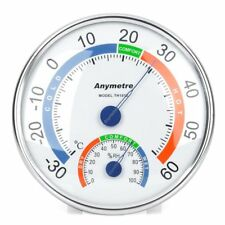Tester Weather Meter Indoor Outdoor Wall Window Office Thermometer Hygrometer