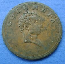 Canada - Columbia Farthing Token 19TH CENTURY, JUSTICE SITTING