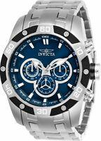 Invicta Men's Chronograph Watch - Speedway Blue Dial Steel Bracelet | 25839