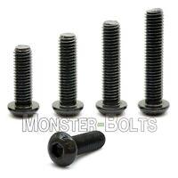 #10-24 - Button Head Socket Cap Screws Alloy Steel Thermal Blk Oxide Coarse SAE