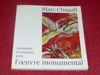 "[ART XXe] MARC CHAGALL CATALOGUE EXPO ""L'OEUVRE MONUMENTAL"" RMN EO 1974 MMB NICE"