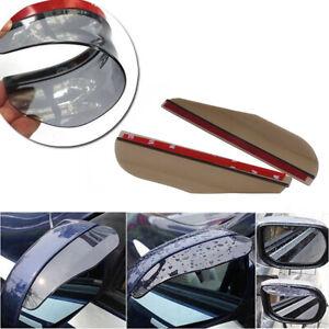 Pair Car Smoke Rearview Side Mirror Rain Visor Shade Len Eyebrow Cover Shield