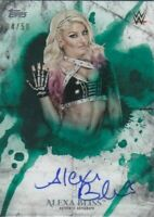 ALEXA BLISS 2018 Topps WWE Undisputed GREEN PARALLEL AUTOGRAPH AUTO Card #34/50