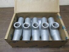 "Lot of 5 Crouse-Hinds Eaton TB27 Condulet Cast Iron Conduit Body Type TB 3/4"""