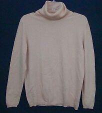 Bloomingdales CASHMERE Sweater Pink Sutton Studio Turtleneck Long Sleeve Large