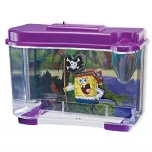 Penn Plax SpongeBob Pirate 3D Fish Tank Aquarium Betta Tank Childrens Kids