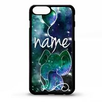 Elephant & balloon stars colourful graphic personalised name phone case cover