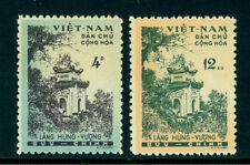 North VIETNAM 1960  HUNG VUONG TEMPLE  Scott # 119-120 mint MNH