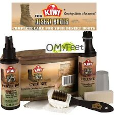 Kiwi Military Desert Boot Cleaner Protector Care Kit for Suede Nylon Boot 28015