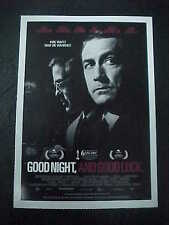 GOOD NIGHT, AND GOOD LUCK, film card (David Strathairn, George Clooney)