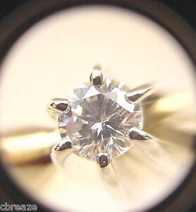 DIAMOND VINTAGE 14K YELLOW & WHITE GOLD SOLITARE RING