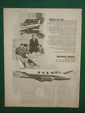 12/69 PUB SWEARINGEN AIRCRAFT SAN ANTONIO TEXAS MERLIN IIB GARRETT AIRESEARCH AD