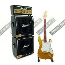 Mini Guitar Eric Clapton Gold + Amplifier Amp scale 1:4 miniature collectible