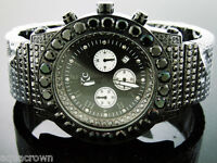 Mens quartz Techno Com Kc 47mm black Simulated Diamond Watch black case