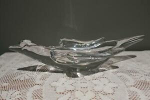 Vintage Art Vannes Long Glass Bird Shaped Bowl - Collectable - Gc