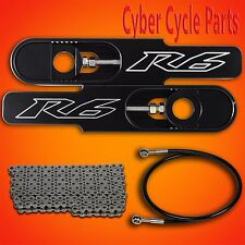 """2014-2016 Yamaha YZF R6 4 1/2 to 9"""" Bolt on Swing Arm Extension Kit"""