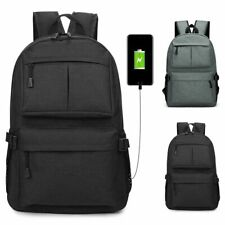 Anti-Theft Mens w/USB Charging Cable Backpack Notebook Laptop School Bag Travel
