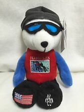 Usps Cycling Team Stamp Stuffed Plush Beanbag Bear Beanie 50 Cent Stamp Flag Usa