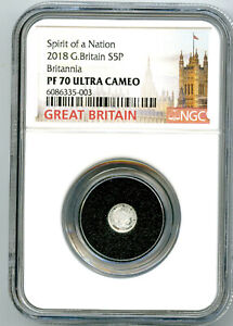 2018 5P GREAT BRITAIN SILVER PROOF BRITANNIA NGC PF70 RARE MINTAGE ONLY 1350 !!