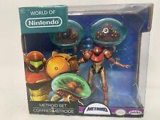 World of Nintendo: Metroid Set 3-Pack: Samus Aran & 2 Metroid Figures - Jakks