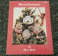 Mary Beale Merry Christmas No. 4 Counted Cross Stitch Ornament Chart