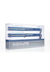 """BaByliss PRO Nano Titanium 1"""" and 1.5"""" Ultra Thin Flat Iron 2pc Combo Set"""