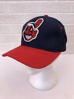 Vintage MLB Cleveland Indians Snapback Hat Chief Wahoo Raised Logo Baseball Cap