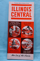 Illinois Central - Time Tables - Oct. 29, 1961