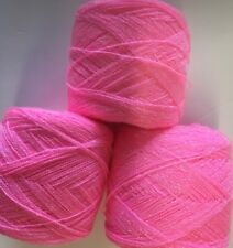 Lace yarn Crystal Color Rosa Acrylic/Rayon.900 yds per ball. 1 lot of 3 balls.