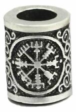 Helm of Awe Vegvisir Runes Asgard Midgard Hair Beard Bead 20 X 14mm Viking Norse