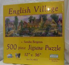 English Village 500 piece thatched roof cottages Sunsout jigsaw puzzle 49111