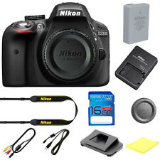 Nikon D3300 Digital SLR Camera Body 24.2 MP Black BRAND NEW W/ I3ePro SD Card