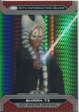 Star Wars Chrome Perspectives II Prism Parallel Base Card 6-S Shaak Ti