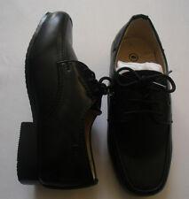 Boys Black Brown Formal Shoes Laces Infant Junior Smart Wedding Lace Up Party