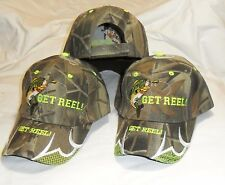 3 Pack  Get Reel Fishing Hats Camouflage