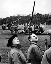 New 8x10 World War II Photo: Anti-aircraft Guns in Hyde Park, London Raid - 1939
