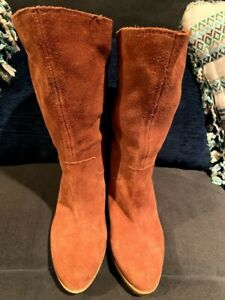 Lucky Brand Suede Boots Womens Size 9M EUC