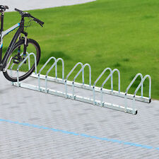 5 Bike Parking Stand Cycle Bicycle Floor Rack Mount Holder Storage