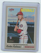 2019 TOPPS HERITAGE HIGH # RED AUTOGRAPH RC CARTER KIEBOOM #13/70 NATIONALS