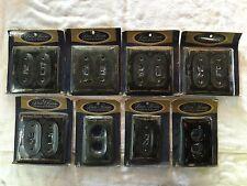 8 Vintage Nos Black 22k Wheat Porcelain Wall Switch Plug Plates