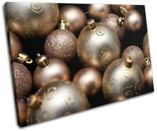 Baubles Decorations Christmas SINGLE LONA pared arte Foto impresion
