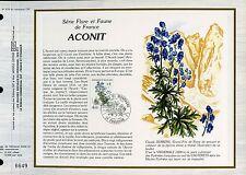 DOCUMENT CEF PREMIER JOUR 1983  TIMBRE N° 2269  ACONIT FLORE