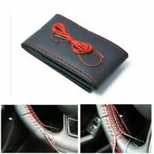 38cm Car Truck Microfiber Leather Steering Wheel Cover W/ Needles Thread Diy