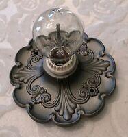 Signed Riddle Co.  Antique Art Deco, Art Nouveau 1 Bulb Ceiling Porch Light