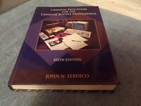Criminal Procedure for the Criminal Justice Professional Sixth Edition
