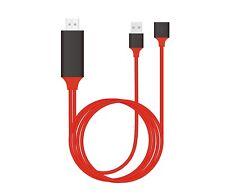 3in1 Lightning/MHL Digital AV to HDMI Adapter Cable HDTV Screen Mirroring Cast