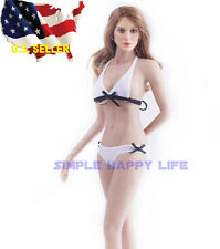 1/6 woman classic white Bikini Swimsuit Set For Phicen hot toys kumik USA