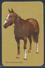 #920.458 Blank Back Swap Cards -MINT- Standing horse on tan background